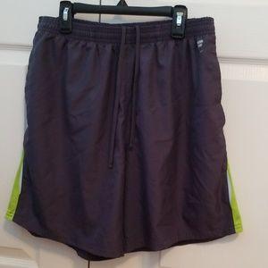 Performance FILA Sport Running Shorts Neon Green